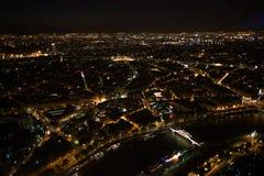 paris Vue de nuit de Tour Eiffel photo libre de droits