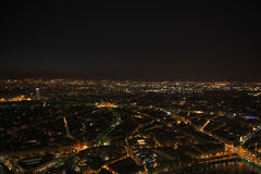 paris Vue de nuit de Tour Eiffel Photo stock