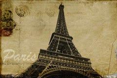 Paris vykort stock illustrationer