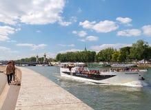 Paris. Walking along the Seine. Stock Image