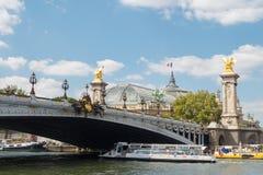 Paris. Walking along the Seine. Stock Photo