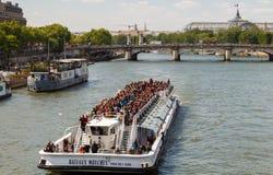Paris. Walking along the Seine. Royalty Free Stock Photo