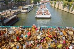 Paris. Walking along the Seine. Stock Images