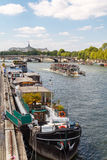 Paris. Walking along the Seine. Royalty Free Stock Photos