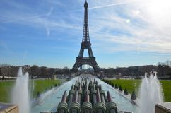 Paris water fountains Stock Photography