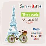Paris wedding invitation Royalty Free Stock Photos