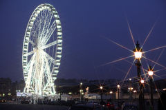 Paris wheel. Giant wheel on Concord in Paris Royalty Free Stock Images