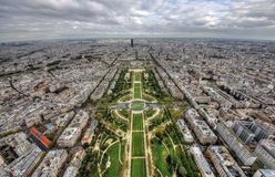 Paris wide view. Aerial wide view of Paris from Eiffel tower Stock Photo