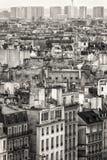 Paris widok lotniczego czarny white Obrazy Stock