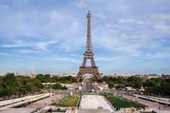 Paris wieżę eiffel France trocadero widok obraz royalty free