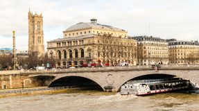 Cruise on the Seine River in Paris Stock Photography