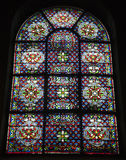 Paris - windowpane from church stock image