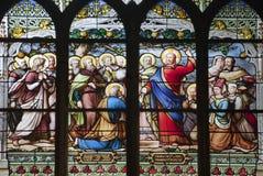 Paris - windowpane de Saint Severin imagens de stock royalty free