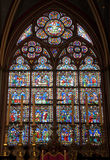 Paris - windowpane form Notre-Dame cathedral Stock Photography