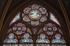 Paris - windowpane form Notre-Dame cathedral Royalty Free Stock Image