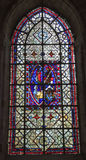 Paris - windowpane from Saint Denis Stock Photography