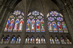 Paris - windowpane of Saint Denis Stock Image