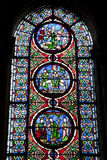 Paris - windowpane from Saint Denis church Royalty Free Stock Images