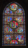 Paris - windowpane from Saint Denis - Jesus Royalty Free Stock Photography