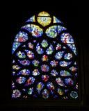 Paris - windowpane from Saint Germain-l' Royalty Free Stock Photography