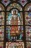 Paris - windowpane - saint Vincent de Paul Stock Photos