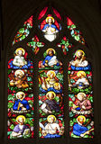 Paris - windowpane of twelves apostles - Saint Ger Stock Photography