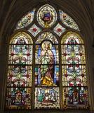 Paris - windowpane - virgin Mary Stock Photography