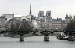 Paris in winter Royalty Free Stock Photos