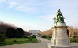 Paris in winter, jardin des Plantes Royalty Free Stock Images