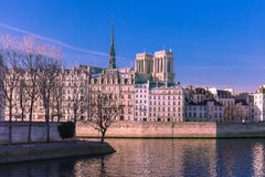 Paris in the winter morning, France Stock Photos