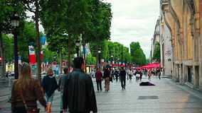 Paris Woman begging stock footage