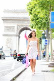 Paris woman shopping stock photography