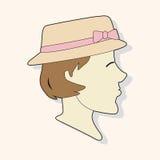 Paris woman theme elements vector,eps. Vector illustration file Royalty Free Stock Photos