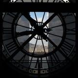 Paris zegar France muzeum orsay widok Obraz Stock