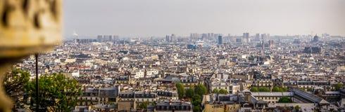 Parisan skyline. View on the skyline in Paris Stock Photo