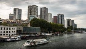 Parisan skyline. View on the skyline in Paris near the Eiffel Tower Royalty Free Stock Image