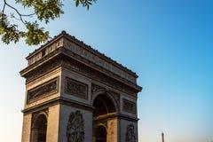 Parisan skyline. View on the skyline in Paris near the Eiffel Tower Stock Photography