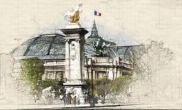 Parisare Grand Palais arkivfoton