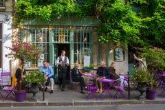 Pariser Café auf Ile de Cite Lizenzfreies Stockbild
