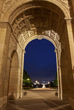 Pariser Grenzsteine nachts Lizenzfreies Stockbild