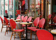 Pariser Kaffee stockfotografie