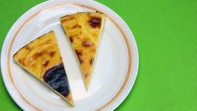 Pariser Obsttorte oder französische Vanillepudding-Torte - Nachtisch Lizenzfreies Stockbild