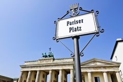 Pariser Platz in Berlin Royalty Free Stock Photography