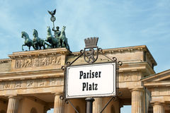 Pariser Platz in Berlin Royalty Free Stock Image