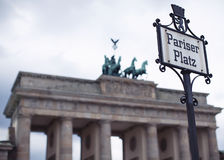 Pariser Platz, Berlin and Brandenburg Gate royalty free stock photos
