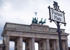 Pariser Platz, Berlin and Brandenburg Gate Royalty Free Stock Photos