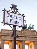 Pariser platz in berlin Stock Photos