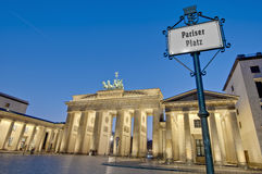 The Pariser Platz at Berlin, Germany Royalty Free Stock Photography