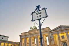 The Pariser Platz at Berlin, Germany Royalty Free Stock Image