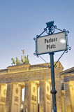 The Pariser Platz at Berlin, Germany Stock Image